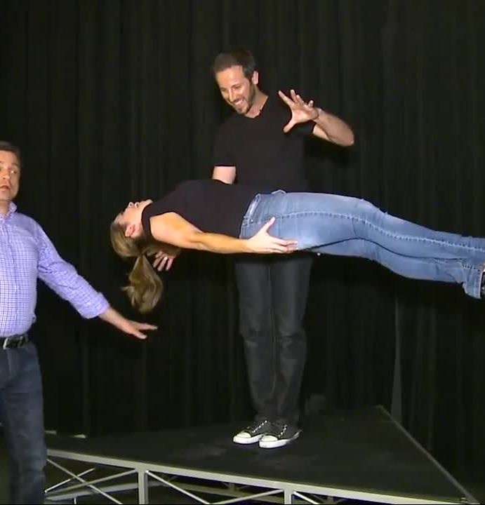 It's magic! Fiona levitates with San Antonio Magician