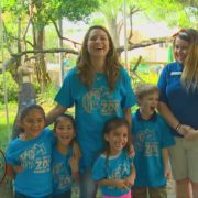Making bird feeders with the San Antonio Zoo