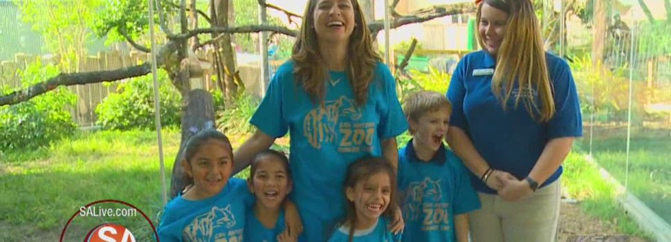 Making bird feeders with the San Antonio Zoo